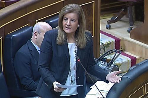 Fátima Báñez destaca que tres de cada cuatro asalariados tiene un contrato indefinido
