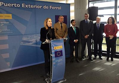 Fomento solicitará 16 M€ a los fondos CEF para financiar el proyecto de conexión ferroviaria del Puerto Exterior de Ferrol