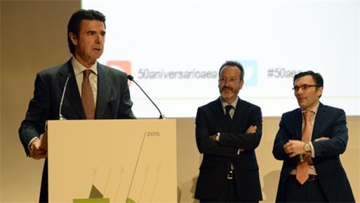 El ministro de Industria, Energía y Turismo clausura la celebración del 50º Aniversario de la AEA