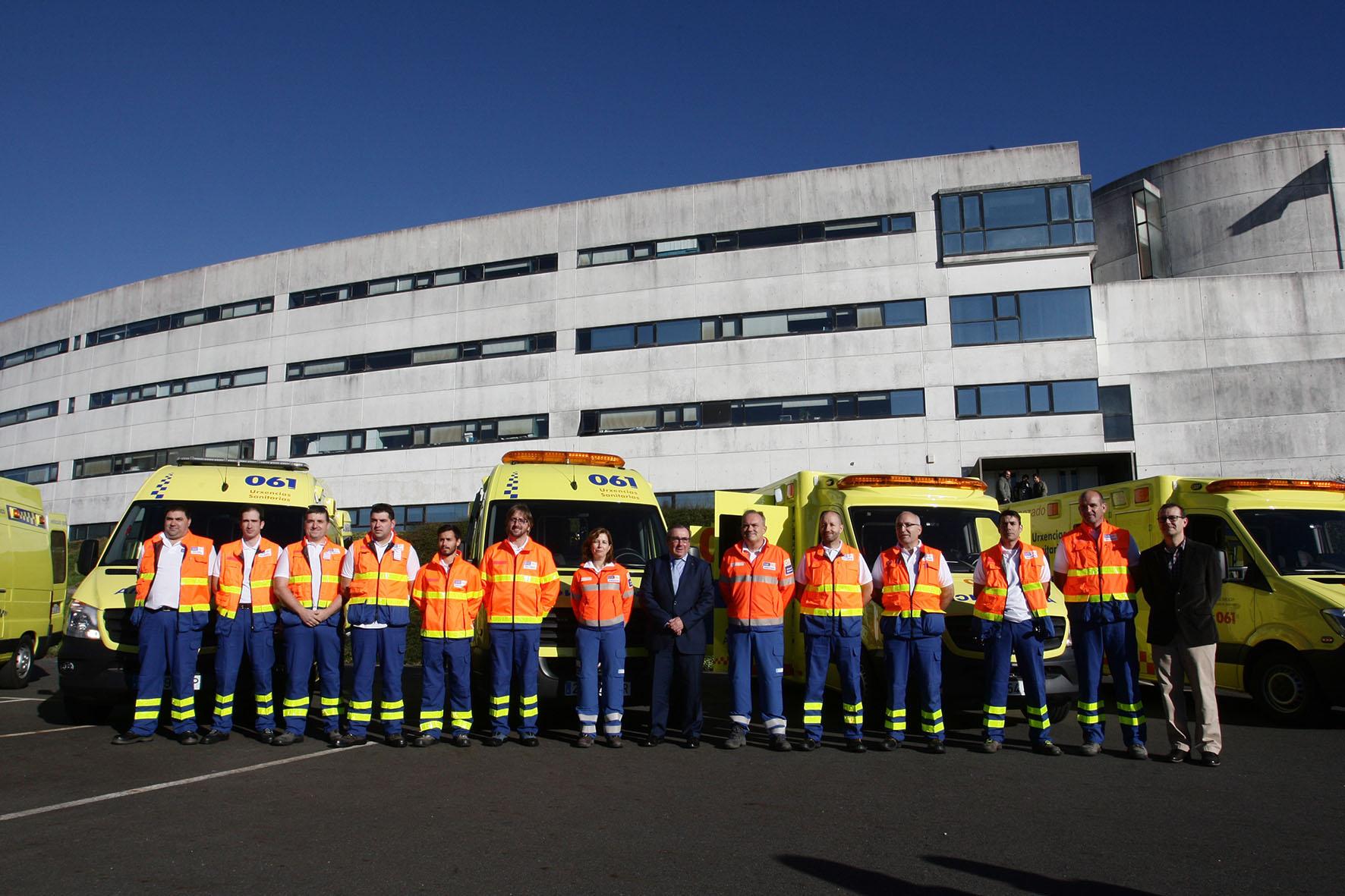 El 061-Galicia asistió a 69 personas por 52 accidentes de circulación durante el fin de semana