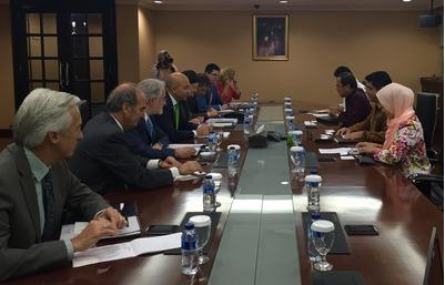 La capital de Indonesia ha sido hoy el destino de la delegación