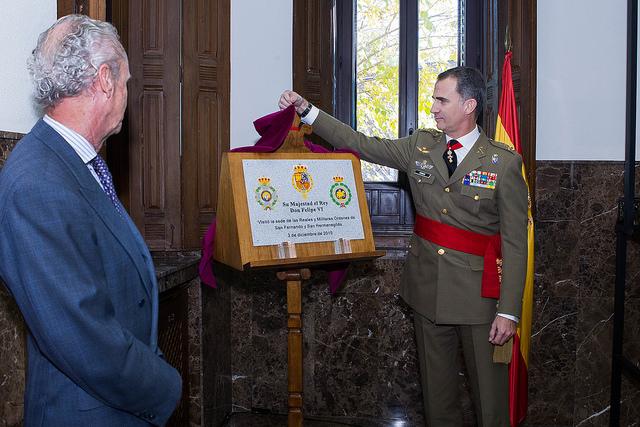 El Rey visita la sede de las Reales y Militares Órdenes de San Fernando y San Hermenegildo