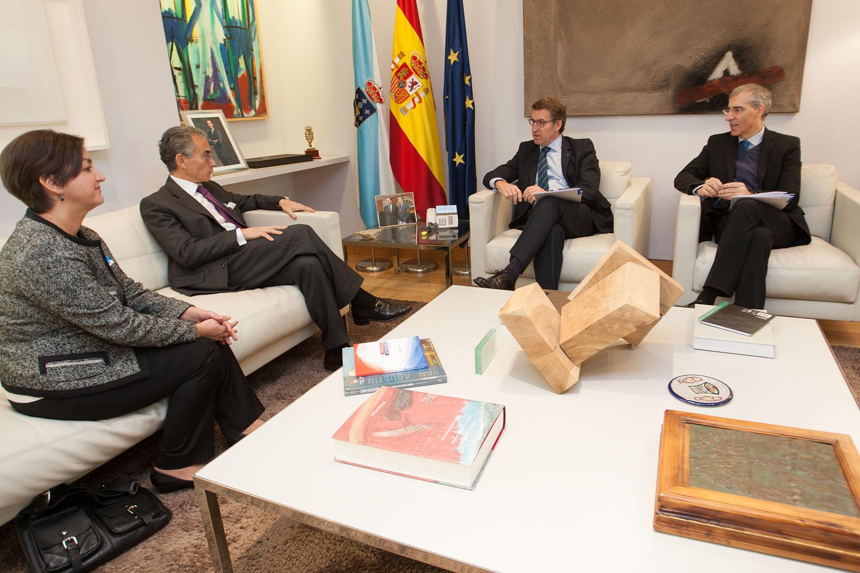 Feijóo destaca la importancia de que Galicia sea la sede del próximo foro España - EEUU, que tendrá lugar en junio de 2016