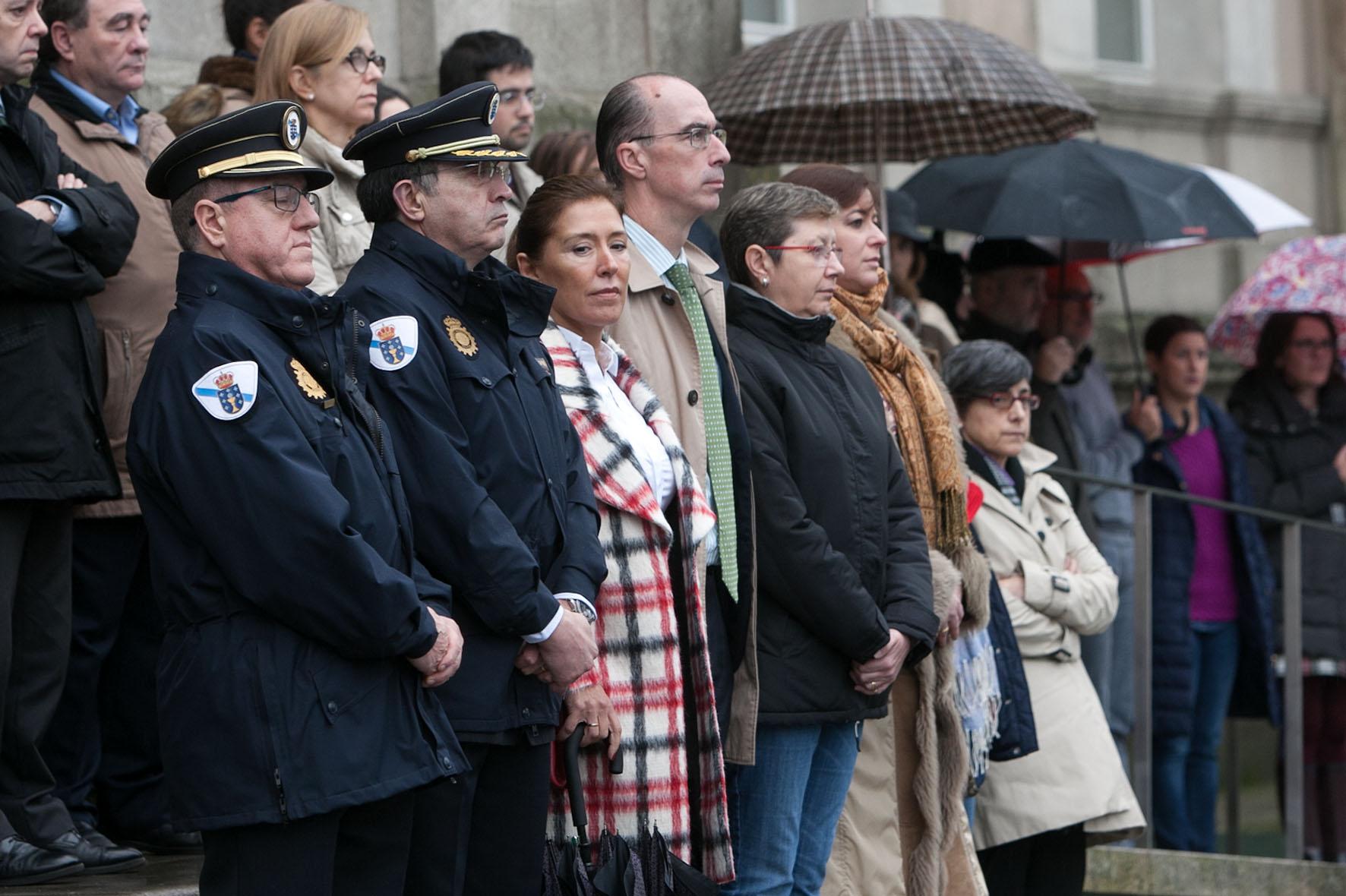 Concentración de condena onde se gardou un minuto de silencio pola última vítima da violencia de xénero en Galicia