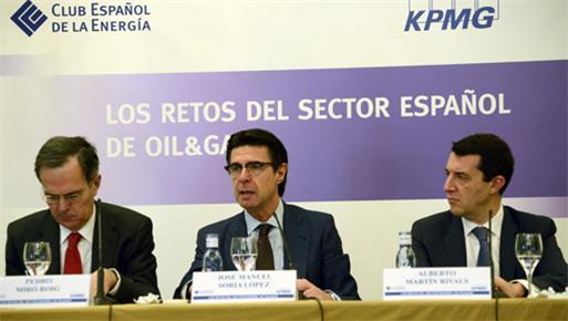 """El ministro de Industria, Energía y Turismo inaugura la Jornada """"Los retos del sector español  del petróleo y el gas"""""""
